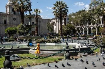 Place d'Armes d'Arequipa, Pérou voyage