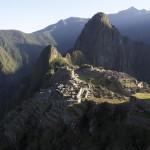 Lever de soleil sur le Machu Picchu