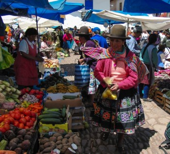 Marché à Cusco, Pérou