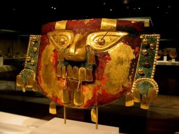 Masque Chimu, Musée à Lima