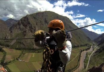 Tyrolienne à Ollantaytambo - Vallée Sacrée des Incas