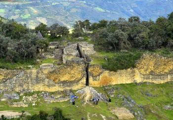 Kuelap, forteresse des Chachapoyas - vue aérienne