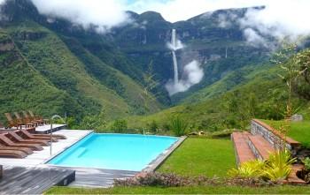 Gocta Lodge - Chachapoyas - vue Cascade de Gocta